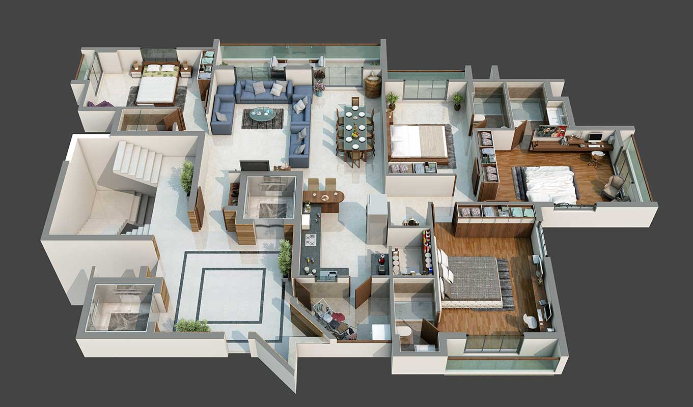 4 BHK A Type